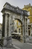 The Arch of Sergius. The old and The big  Arch of Sergius in the city of Pula, Croatia Royalty Free Stock Image