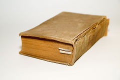 Old big book on a white background Stock Photos