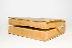 Old big book on a white background Royalty Free Stock Photos