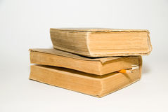 Old Big Books On A White Background Royalty Free Stock Images