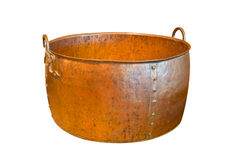 Old big copper bowl Stock Photos