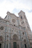 Old big cross and battistero building in Center of the Firenze italy Stock Photography