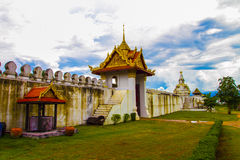 The old big door of city wall in Thailand Royalty Free Stock Photos
