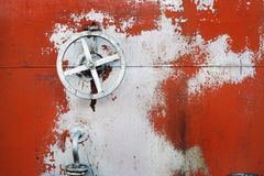 Old big hand wheel Royalty Free Stock Images