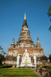 Old big pagoda. In mongkol temple at ayutthaya province (Thailand Stock Photography