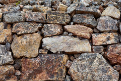 Old Big Stone Wall Stock Image