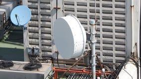 Old big telecommunication satellite dish. Royalty Free Stock Photo