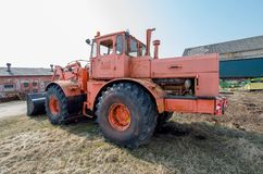 Old big tractor Stock Image
