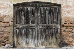 Old big wood door Royalty Free Stock Photos