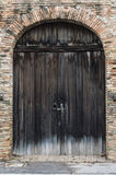 Old big wood door Stock Photo