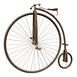 Old bike 1. 3D render of a retro bike Royalty Free Stock Images