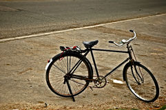 Old bike. Old rusty bicycle Stock Photography