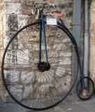 Old bike. Captured in Gubbio / Umbria during a fest Stock Photography