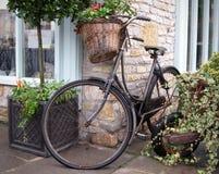 Old bike. Retro bike in a rural setting Royalty Free Stock Photos