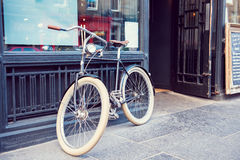Old bike in the city Royalty Free Stock Photo