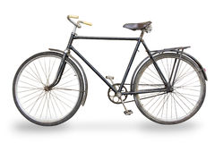 Old bike isolated Royalty Free Stock Photo
