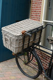 Old bike with reed basket Royalty Free Stock Photography
