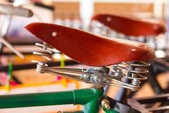Old bike saddle imitation Stock Image