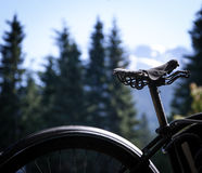 Old bike seat Royalty Free Stock Images