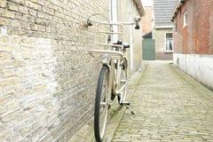 Old bike. At Sloten city Stock Image