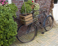 Old bike with wooden box Stock Image