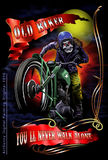 Old biker color Stock Photography