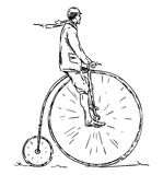 Old biker Stock Image