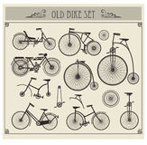 Old bikes vector illustration
