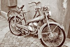 Old bikes. Some very old bikes Stock Image