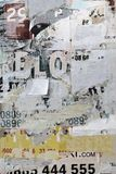 Old Billboard With Torn  Paper Posters Texture  Or Vertical Back Stock Images