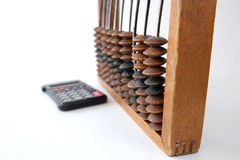 Old bills and calculator royalty free stock photography