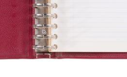 Old binder folder isolated. On a white background royalty free stock image
