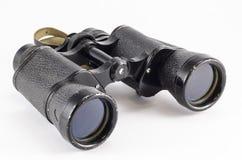 Old binoculars. On white background Stock Photography