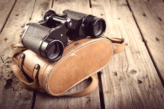 Old Binoculars Filtered Stock Image