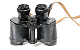 Old binoculars isolated Royalty Free Stock Image