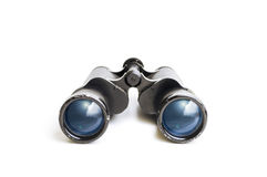 Old Binoculars with Sky Reflection Royalty Free Stock Photography
