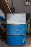 Old bins of oil Stock Photography