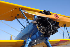 Old biplane Stock Photography