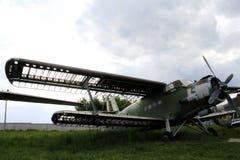 Old biplane Stock Photo