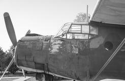 Old biplane. Stock Photos