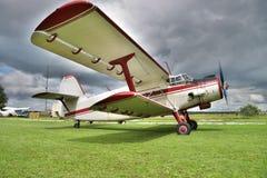 Old biplane Stock Image