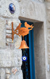 The old bird-bell that hung on the door Royalty Free Stock Photos