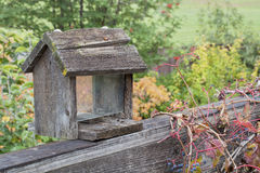Old bird feeder Stock Photography