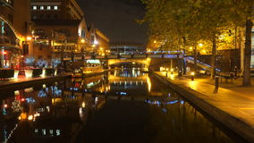 The Old Birmingham Canal at Night Stock Photography