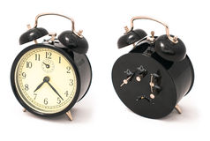 Old black alarm clock Royalty Free Stock Photography