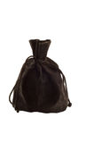 Old black bag money. Old black bag isolated on white background Stock Photo