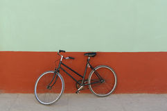 Old black bicycle Royalty Free Stock Photography