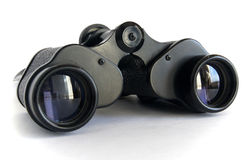 Old black binoculars Royalty Free Stock Photography