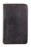 Old black book. Studio shot of old black book on white background Stock Images