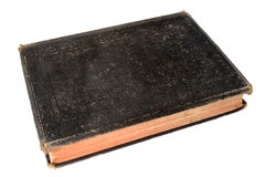 Old black book. Royalty Free Stock Photo